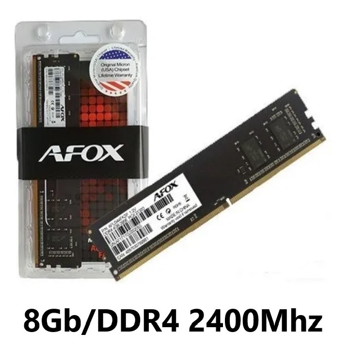 MEMORIA 8GB/DDR4 2400MHZ P/COMPUTADOR CL17 AFOX