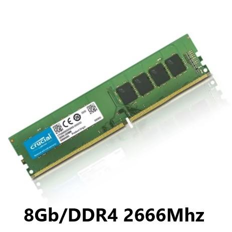 MEMORIA 8GB/DDR4 2666MHZ CL-19 CRUCIAL