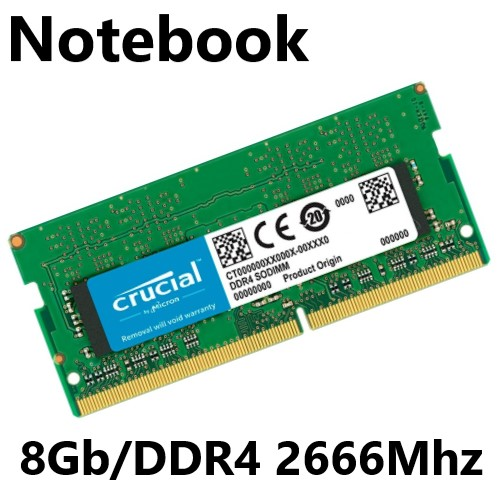 MEMORIA 8GB/DDR4 2666MHZ CL-19 NOTEBOOK CRUCIAL