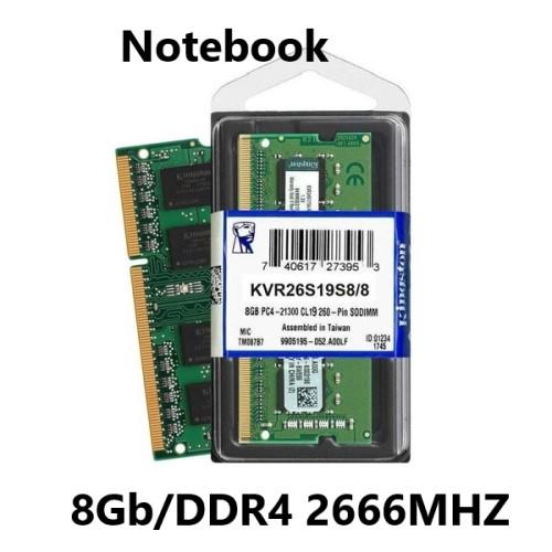 MEMORIA 8GB/DDR4 2666MHZ NOTEBOOK CL19 KINGTSON
