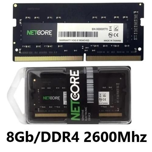 MEMORIA 8GB/DDR4 2666MHZ NOTEBOOK CL19 NETCORE