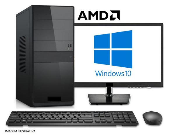 "MICRO - AMD DUAL CORE 3.5GHZ /4GB /SSD 120GB /MONITOR 18,5"" LED  - Express Informática"