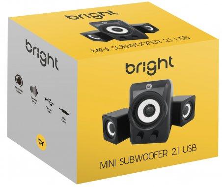 MINI SUBWOOFER 2.1 USB 5W+1,5W RMS 0506 BRIGHT  - Express Informática