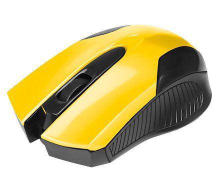 MOUSE USB 0378 PRETO/AMARELO BRIGHT  - Express Informática