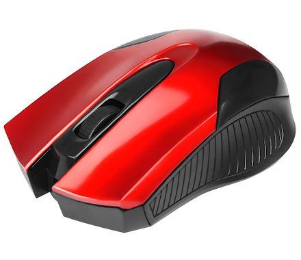 MOUSE USB 1000DPI 02210 PRETO/VERMELHO BRIGHT