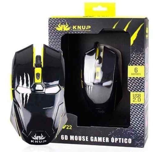MOUSE USB GAMER KP-V22 6BT 2400DPI MO-18 KNUP  - Express Informática