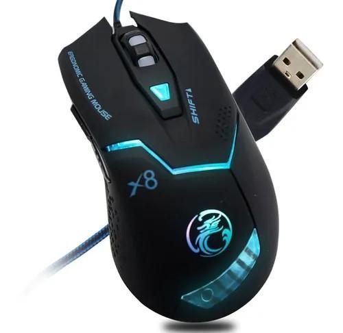 MOUSE USB GAMER X8 2400DPI GAMING C/LED MO-09 ESTONE