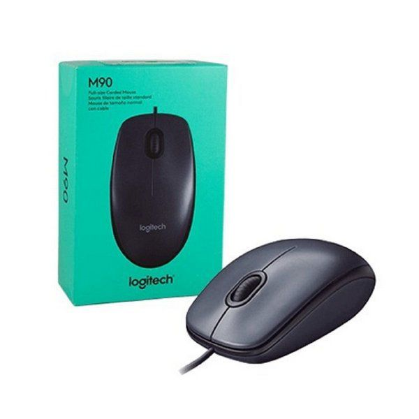 MOUSE USB OPTICO M90 PRETO LOGITECH  - Express Informática