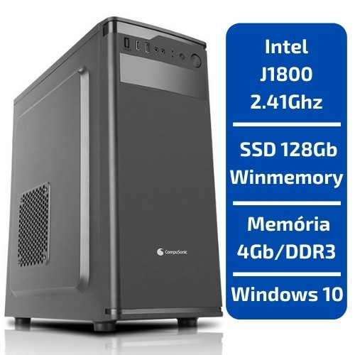 PDV - INTEL J1800 2.41GHZ 4GB/DDR3 SSD 128GB WINDOWS 10 COMPUSONIC
