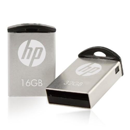 PEN DRIVE 16GB MINI USB 2.0 V222W PRATA HP
