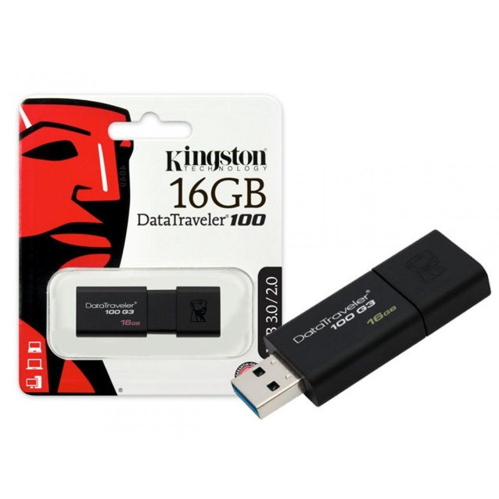 PEN DRIVE 16GB USB 3.1 DT100G3 KINGSTON  - Express Informática