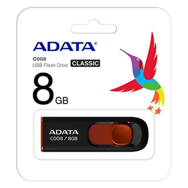 PEN DRIVE 8GB USB 2.0 C008 CLASSIC ADATA