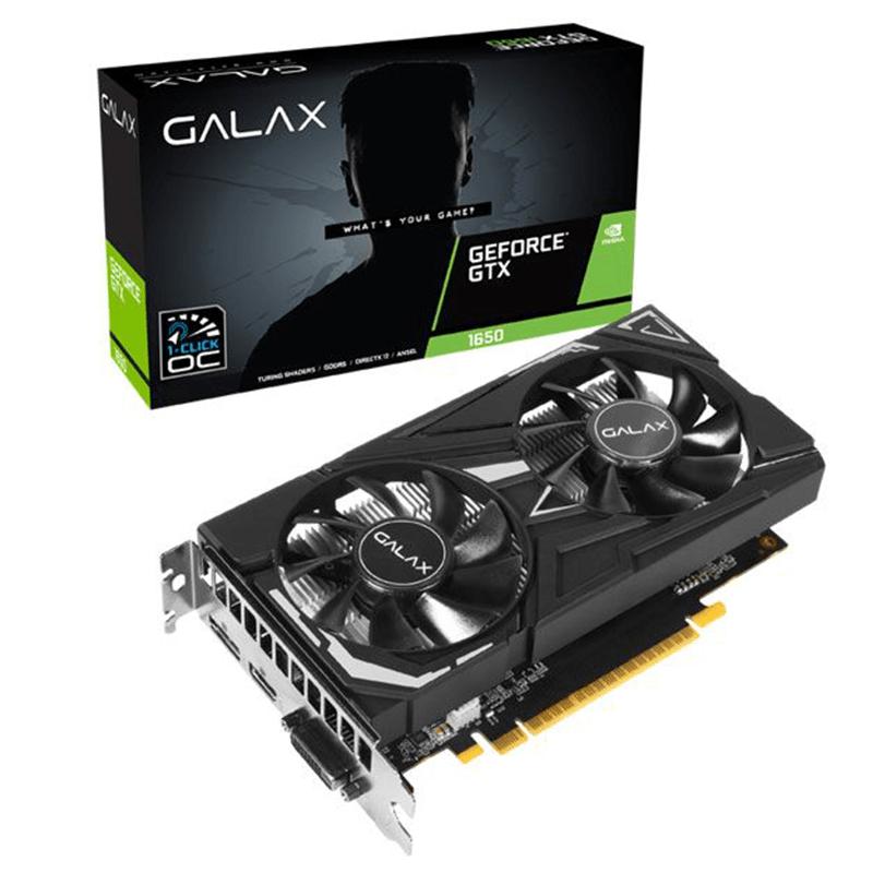 PLACA DE VIDEO 4GB/DDR5 128BIT GTX-1650 EX DP/HDMI/DVI GALAX  - Express Informática