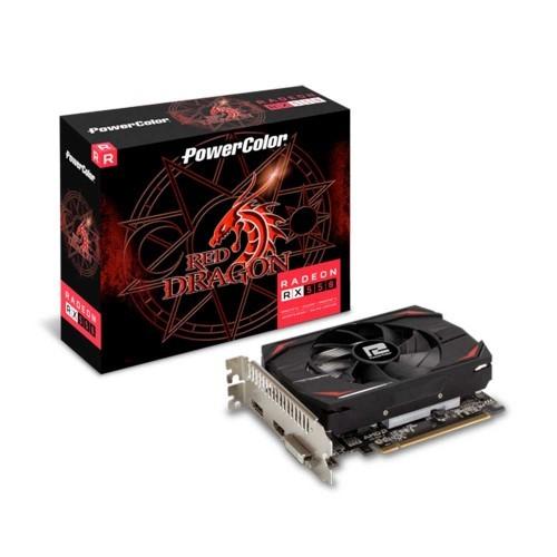 PLACA DE VIDEO 4GB DDR5 128BIT RADEON RX550 DISPLAYPORT-HDMI-DVI POWER COLOR