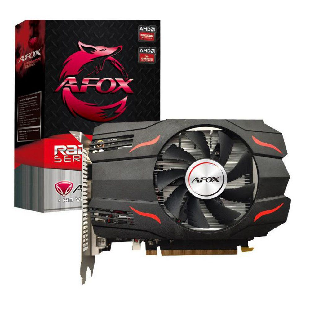 PLACA DE VIDEO 4GB DDR5 128BIT RADEON RX550 DP/HDMI/DVI AFOX  - Express Informática