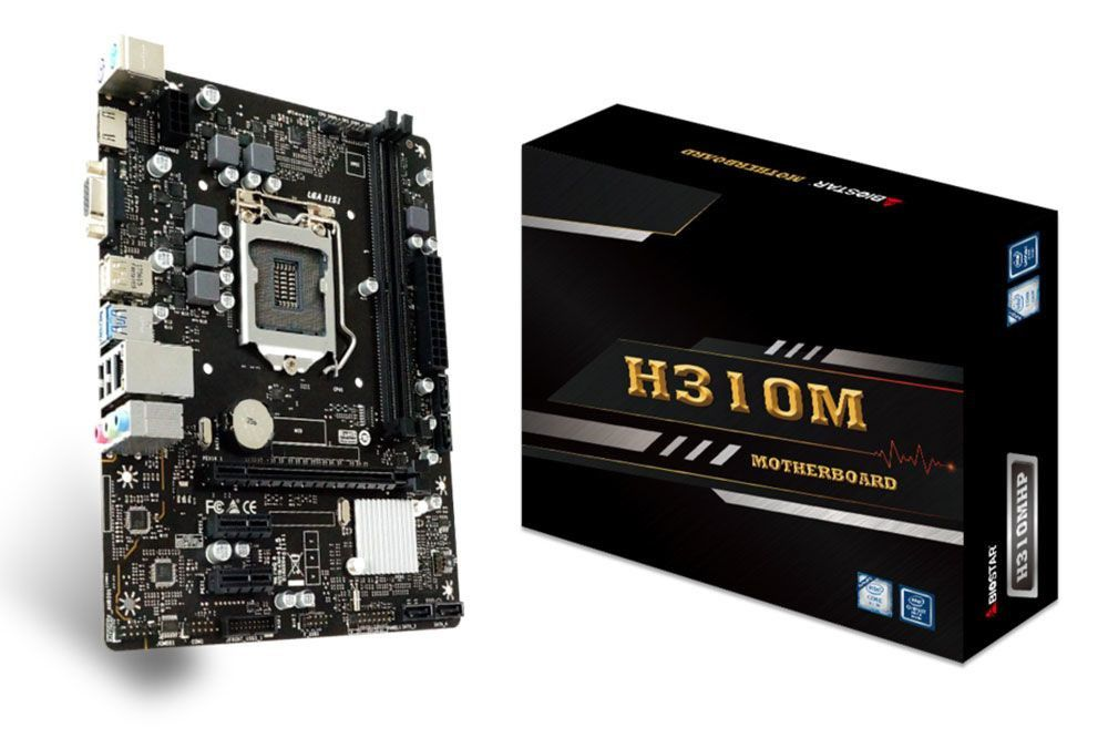 PLACA MAE 1151 DDR4 H310MHP V/S/R/HDMI 8ª GER BIOSTAR  - Express Informática
