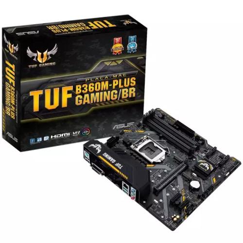 PLACA MAE 1151 DDR4 M.2 V/S/R/DVI TUF B360M-PLUS GAMING 8ª/9ª GERAÇÃO ASUS