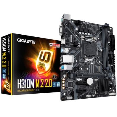 PLACA MAE 1151 DDR4 M.2 V/S/HDMI REDE GIGABIT H310M 8ª/9ª GER GIGABYTE