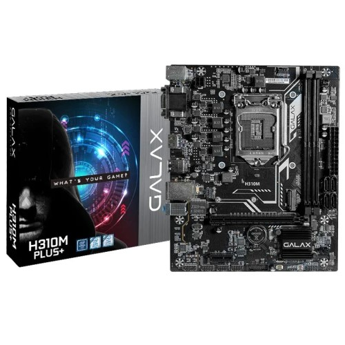 PLACA MÃE 1151 DDR4 M.2 VGA/HDMI/DVI REDELAN GIGABIT H310M PLUS+ 8ª/9ª GER GALAX