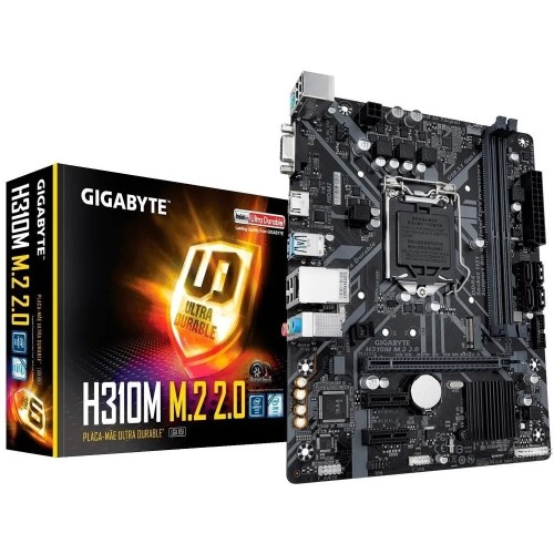 PLACA MAE 1151 DDR4 M.2 VGA/HDMI REDE GIGABIT GA-H310M M.2 2.0 8ª/9ª GER GIGABYTE