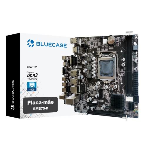 PLACA MÃE 1155 DDR3 VGA/HDMI REDE GIGABIT BMB75-D 2ª/3ª GER BLUECASE