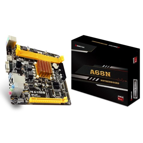 PLACA MAE A68N-2100E AMD 1.05GHZ DDR3 VGA/HDMI REDE GIGABIT BIOSTAR