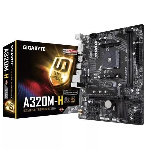PLACA MÃE AM4 DDR4 M.2 NVME HDMI/DVI S/R A320M-H GIGABYTE