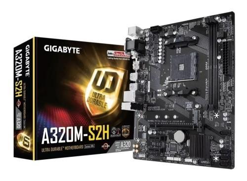 PLACA MÃE AM4 DDR4 M.2 NVME VGA/DVI/HDMI S/R A320M-S2H GIGABYTE