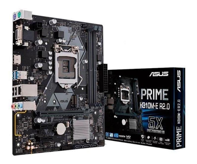 PLACA MÃE 1151 DDR4 M.2 VGA/HDMI REDELAN GIGABIT PRIME H310M-E R2.0 8ª/9ª GER ASUS