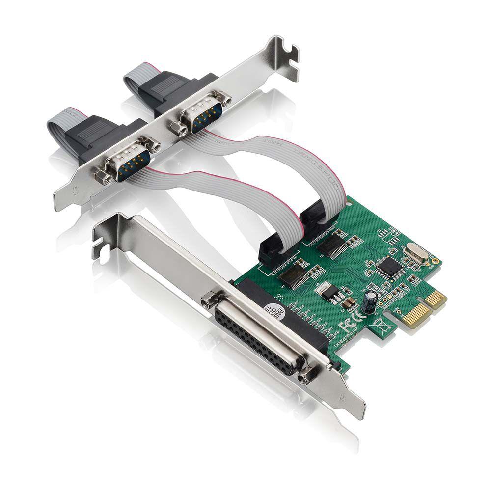 PLACA PCI-EX 1X MULTISERIAL 2SERIAL+1P GA128 MULT  - Express Informática