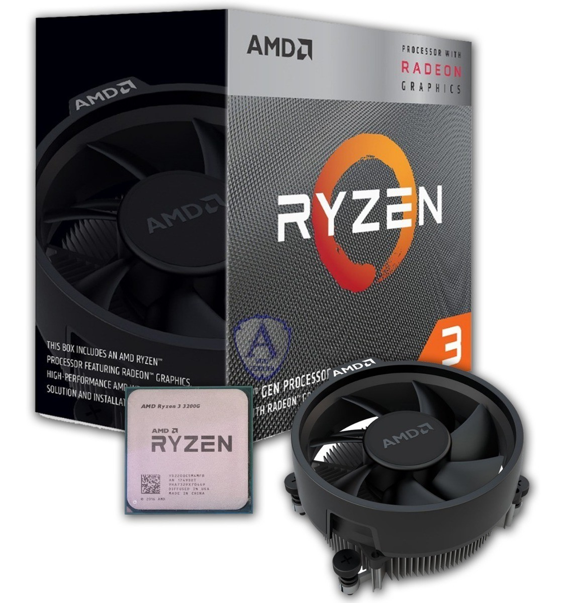 PROCESSADOR AMD RYZEN 3 3200G AM4 4CORE 3.6GHZ 6MB CACHE BOX  - Express Informática
