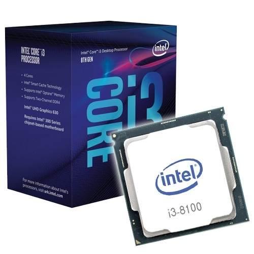 PROCESSADOR INTEL CORE I3-8100 3.6GHZ 6MB CACHE 1151 8ªGER BOX