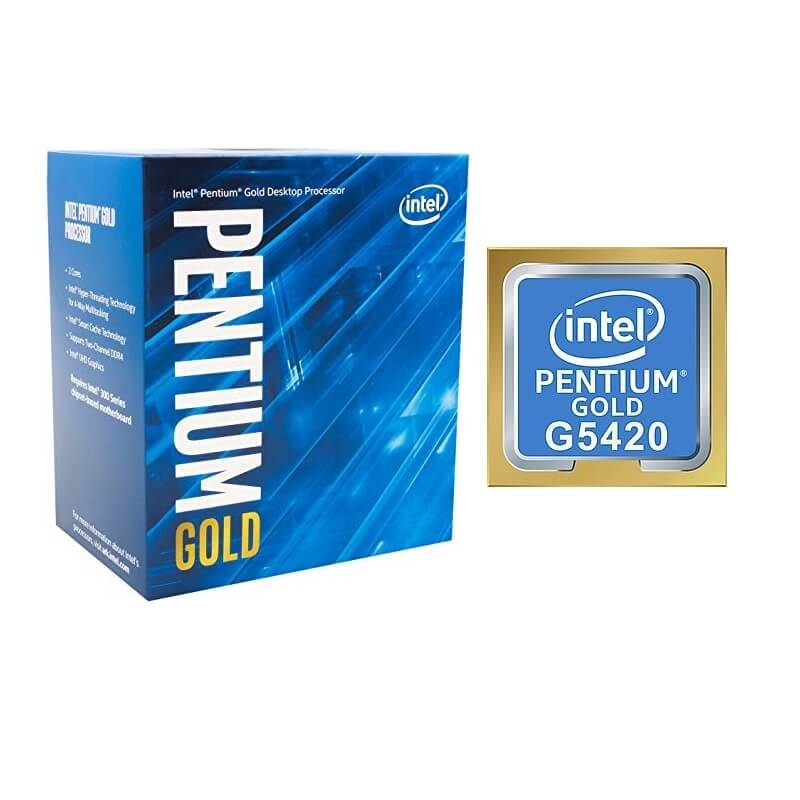 PROCESSADOR INTEL PENTIUM DUAL CORE G5420 3.8GHZ 4MB GOLD BOX