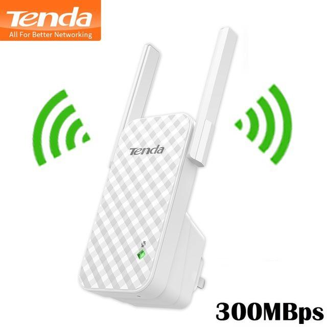 REPETIDOR DE SINAL WI-FI 300MBPS 2 ANTENAS A9 TENDA  - Express Informática