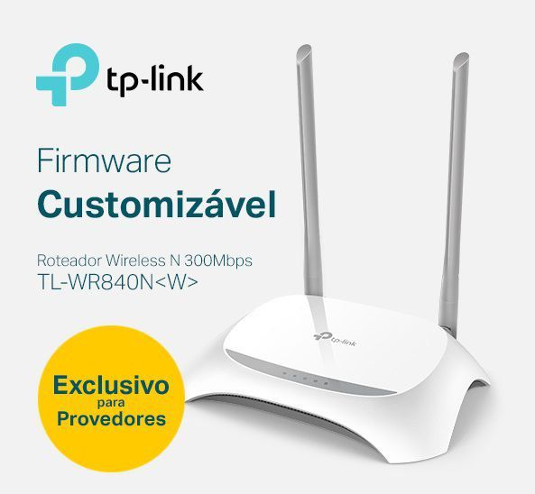 ROTEADOR WI-FI 300MBPS 2 ANTENAS ISP TL-WR840N TP-LINK