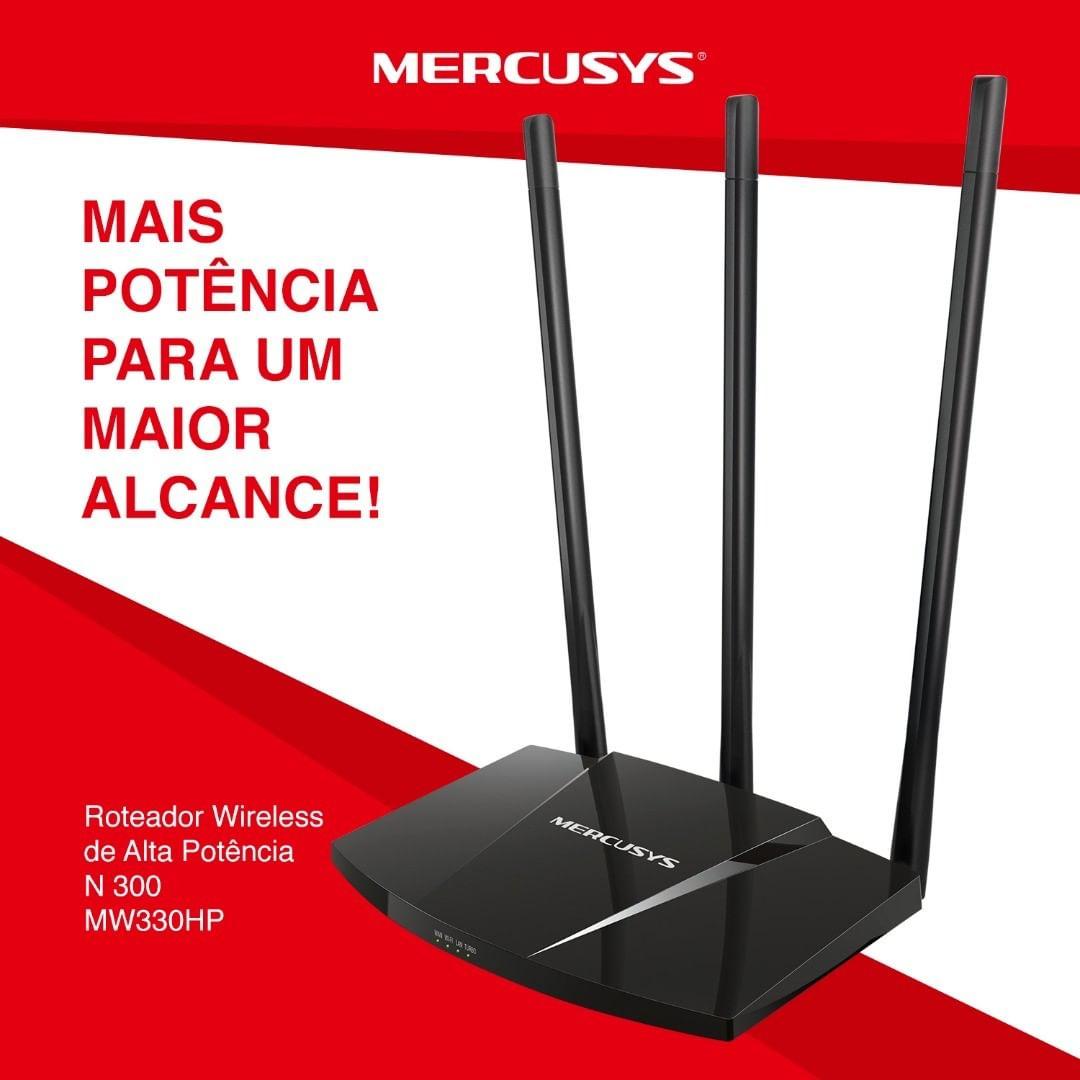 ROTEADOR WI-FI 300MBPS 3 ANTENAS MW330HP MERCUSYS  - Express Informática