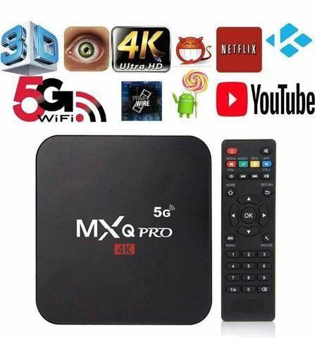 RECEPTOR SMART TV BOX 4K 8GB/128GB WI-FI 5GHz ANDROID 11.1v MXQ PRO