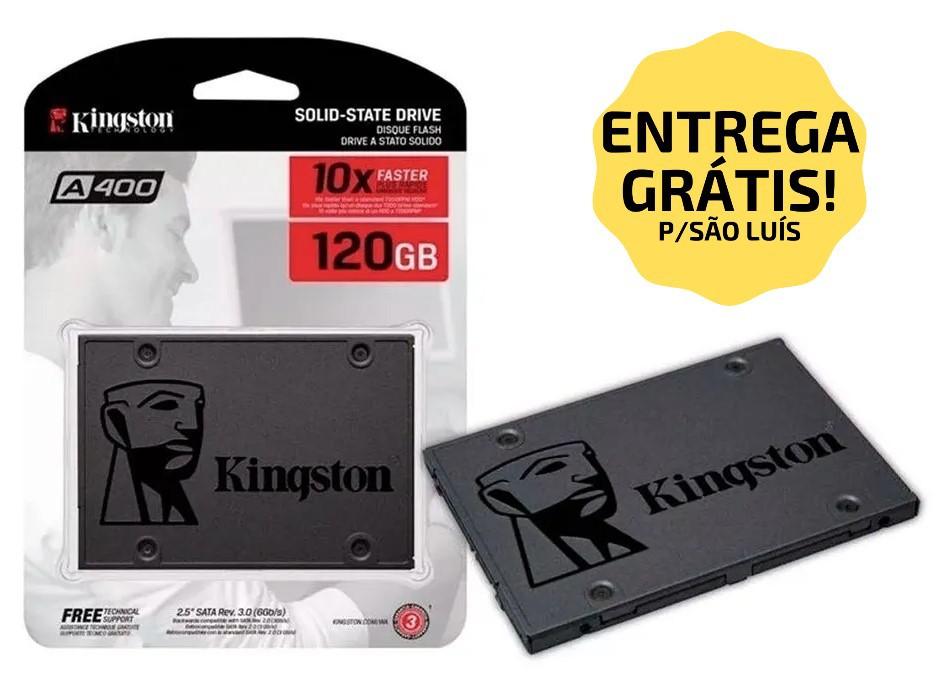 "SSD 120GB SATA III A400 SA400S37/120 2.5"" KINGSTON  - Express Informática"