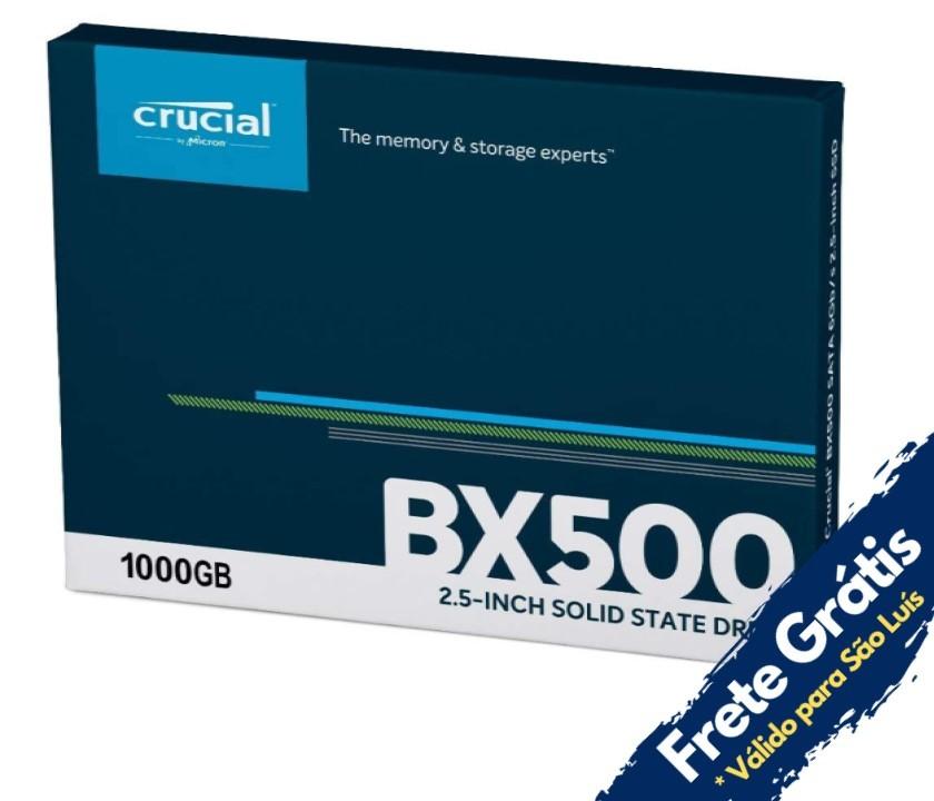 SSD 1TB SATA 3 BX500 CT1000BX500SSD1 CRUCIAL  - Express Informática