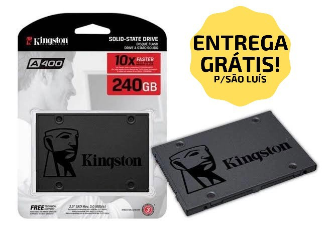 "SSD 240GB SATA III 6.0 SA400S37/240G 2,5"" KINGSTON  - Express Informática"