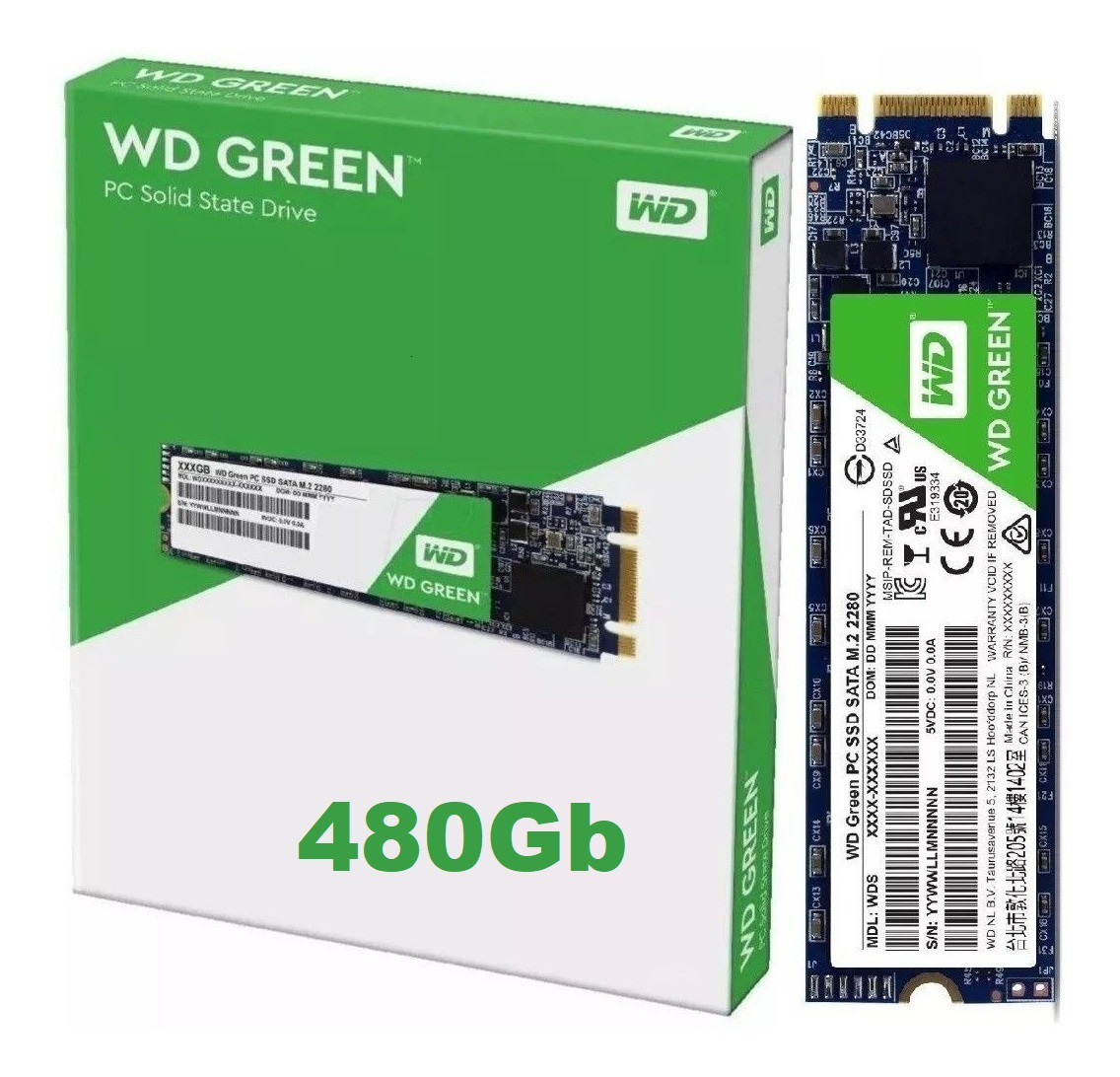 SSD 480GB M.2 2280 545MB/S GREEN WDS480G2G0B WD  - Express Informática