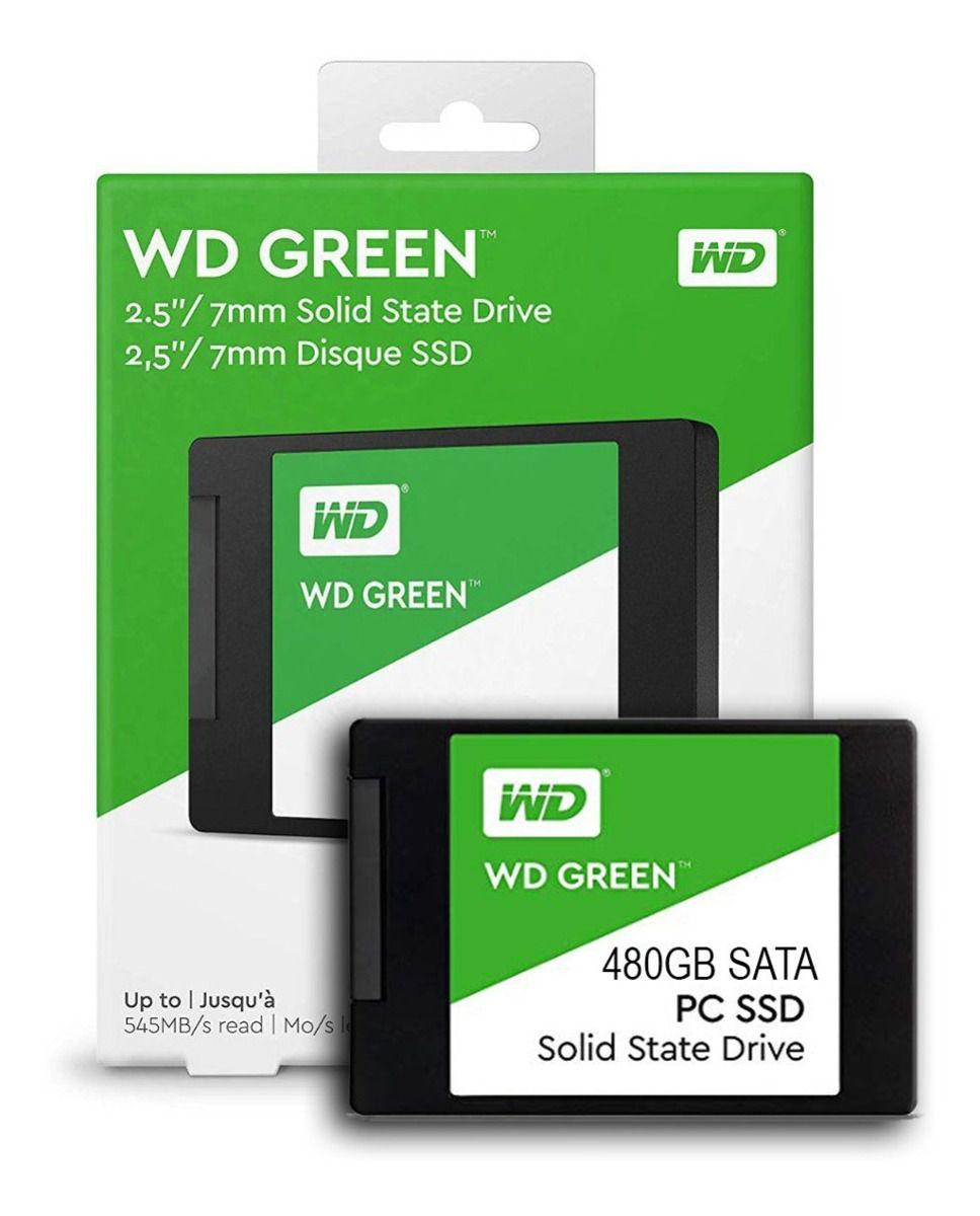 SSD 480GB SATA 3 6GB/s WDS480 545MB/s GREEN WD  - Express Informática