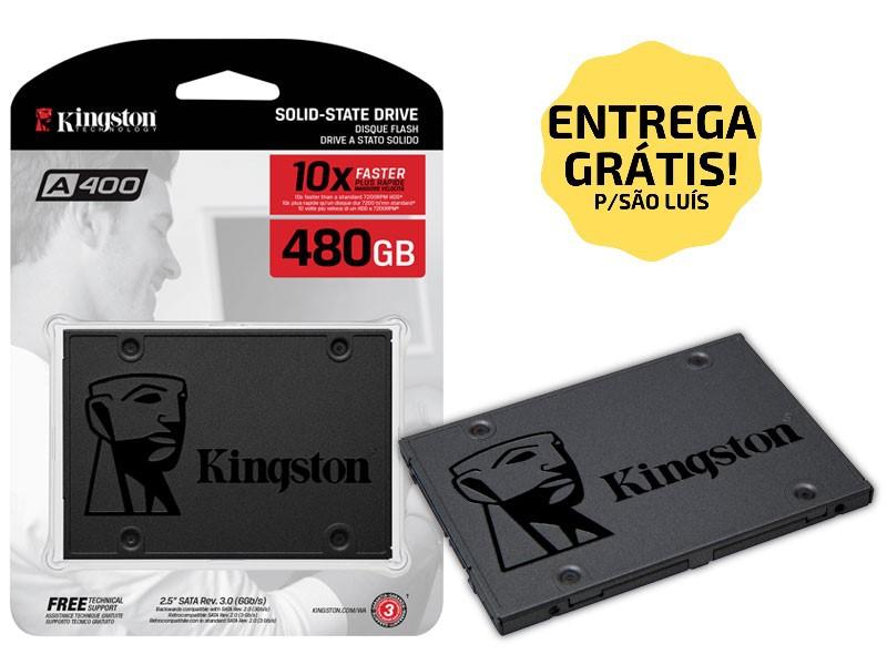 "SSD 480GB SATA III 6.0 SA400S37/480G 2,5"" KINGSTON  - Express Informática"