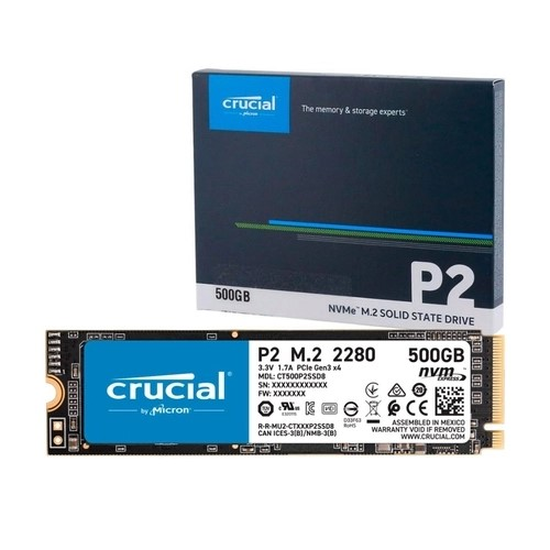 SSD 500GB M.2 NVMe 2300Mbps PCIE 2280 CT500P2SSD8 CRUCIAL