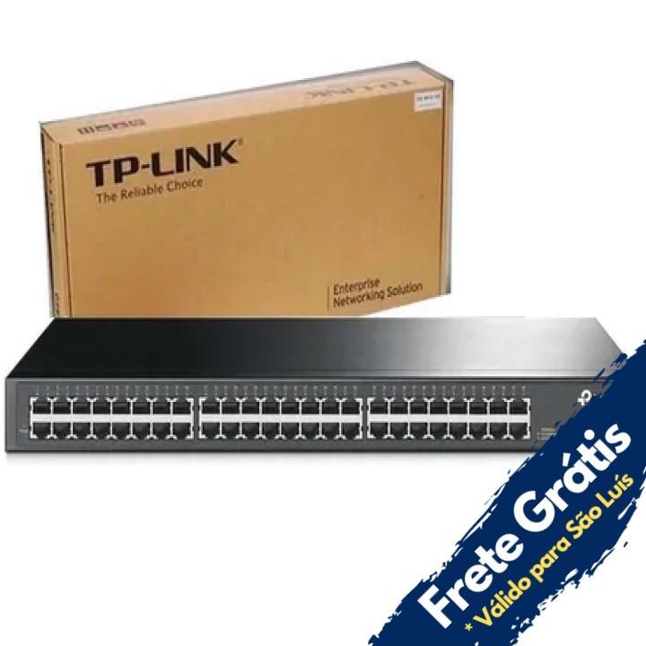 SWITCH 48 PORTAS LAN 10/100/1000 GIGABIT TL-SG1048 RACKMOUNT TP-LINK
