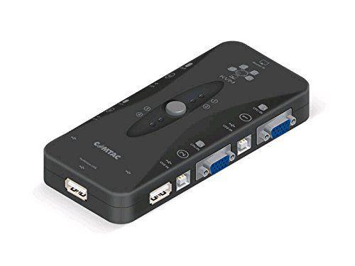 SWITCH KVM 4 PORTAS USB C/CABOS COMTAC  - Express Informática