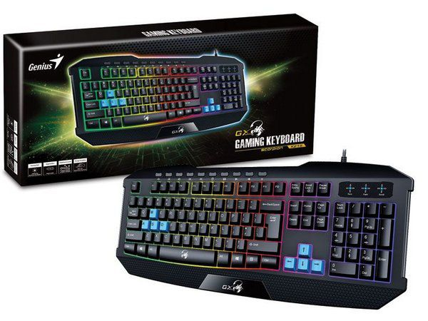 TECLADO GAMER USB K215 SCORPION LED GENIUS  - Express Informática