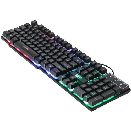 TECLADO USB GAMING LED RGB SEMI-MECANICO GK-41 FY