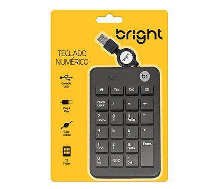 TECLADO USB NUMÉRICO RETRATIL 0134 BRIGHT  - Express Informática
