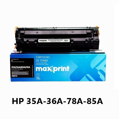 TONER COMPATIVEL HP 35A/36A/78A/85A PRETO MAXPRINT